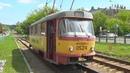 Трамвай Tatra T3SU №0524 Поливомоечный вагон в действии
