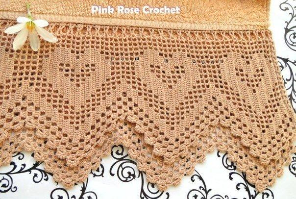 Delicadezas en crochet Gabriela: Hermoso diseño para toallas ...