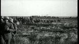 A British Regiment and Cameron Highlanders advance during Battle of Hindenburg Li...HD Stock Footage