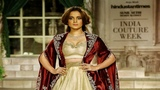 Kangana Ranaut Walks For Anju Modi | India Couture Week 2018