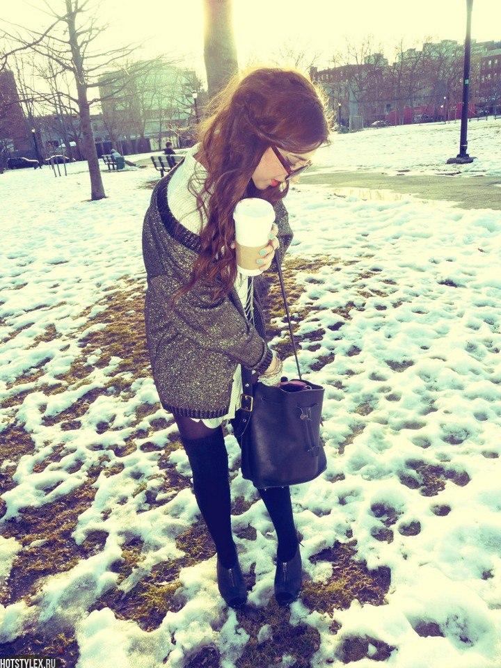 Девушки на аву зимой