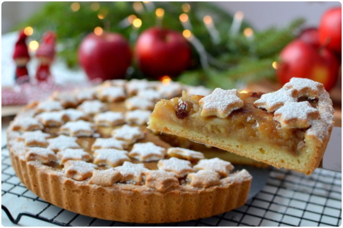 Зимний пирог с яблоками