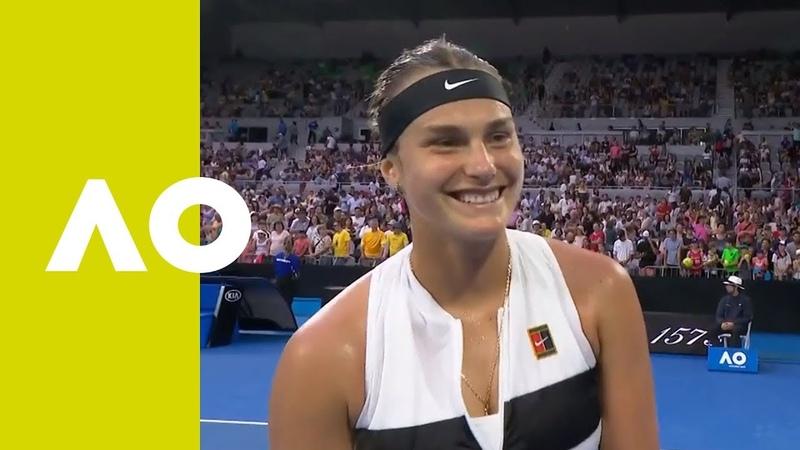 Aryna Sabalenka on-court interview (2R) | Australian Open 2019