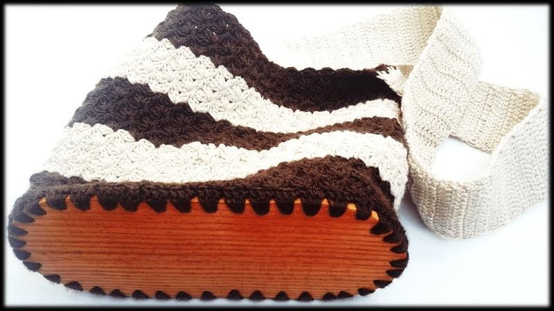 Como tejer un bolso grande con aguja Crochet, paso a paso video completo
