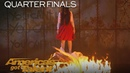The Sacred Riana Magician Scales Wall Summons Terrifying Look alikes America's Got Talent 2018