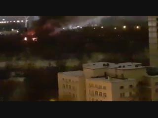 В Москве догорает байк-клуб Sexton в Мневниках, логово «Ночных Волков»