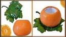 Сочный вазон/кашпо Апельсин из бетона (цемента) своими руками