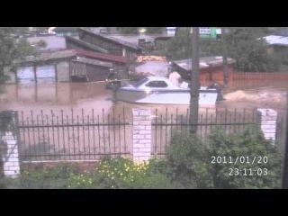 Вид из окна моего дома. Наводнение 01.06.2014 г. село Б.Енисейское, Алтайский край.