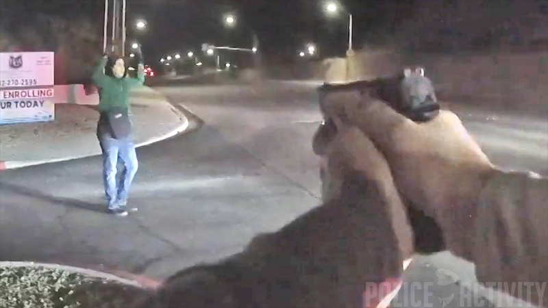 Robbery Suspect Gets Shot by Cop After Reaching For His Gun