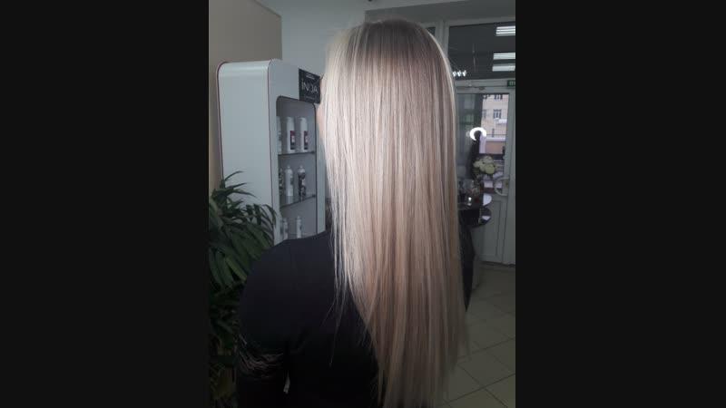 Ставьте лайк если реально нравится такое преображение. Техника от @igorkhonin стрижка на длинные волосы ВРЕМЯ 4 ч ЧЕК 6900