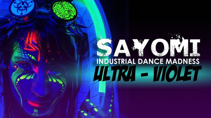 Industrial Dance Madness by Sayomi UV bodypainting [ Cryptic Down - Carry The Call ]