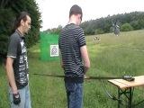 Парень -стреляет из лука ~Робин Гуд и ученик ~Kiev /03.06.2012/