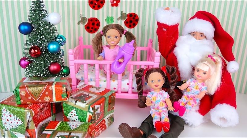 Новогоднее Желание или Как Катя Стала Маленькой Мультик Куклы Барби Сериал Игрушки для девочек