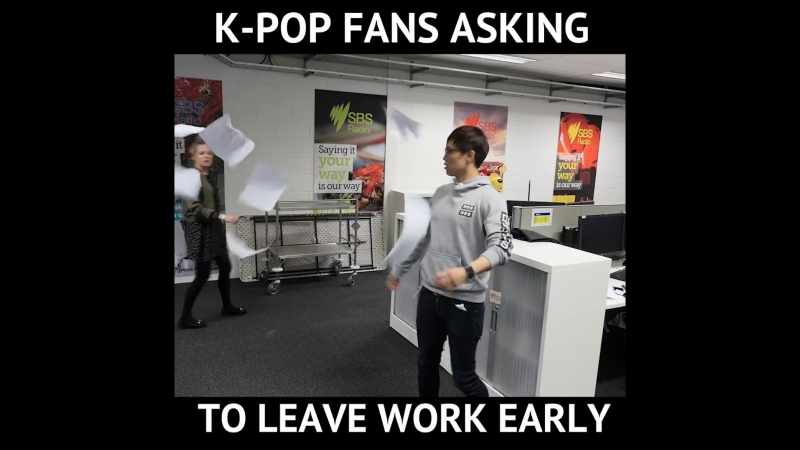 SBS PopAsia - Ikon fans asking to leave work early....mp4