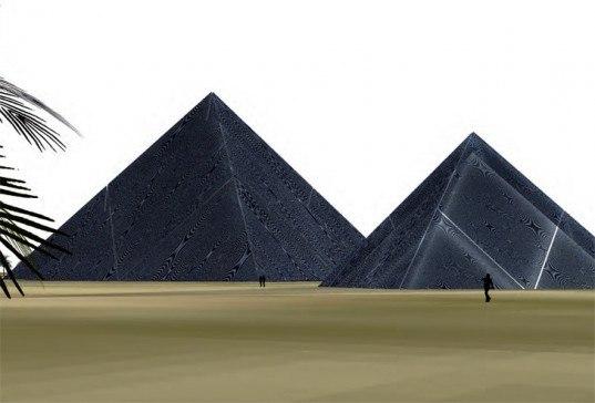 Солнечные пирамиды для генерирования энергии в Абу-Даби  Lunar