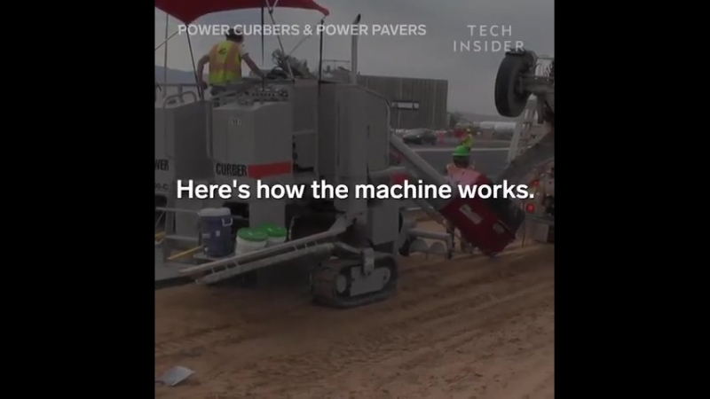 Эти машины уложат бетон в желоба и бордюры