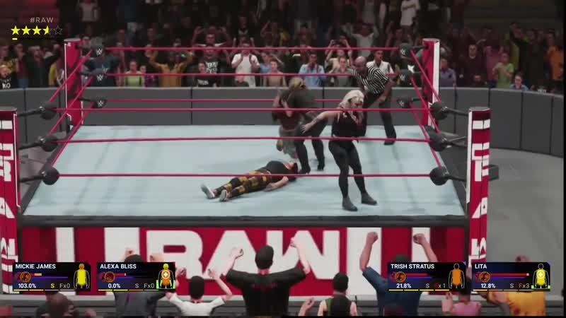 WWE 2K19 LITA TRISH STRATUS ATTACK MICKIE JAMES ALEXA BLISS [RAW]
