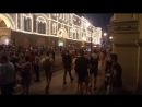 Красная площадь после матча Россия - Испания