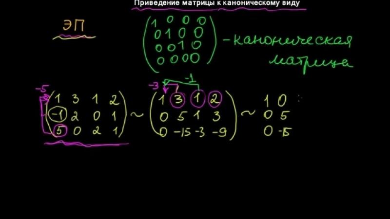 §23 Приведение матрицы к каноническому виду