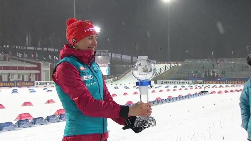 Вручение Анастасии Кузьминой МХГ по программе спринтов (Тюмень 2018)