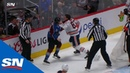 Oilers' Benning Avalanche's Calvert engage in spirited tilt