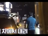vkook getting out of car