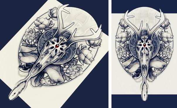 Автор - Анастасия Авина #художники@tattoobase