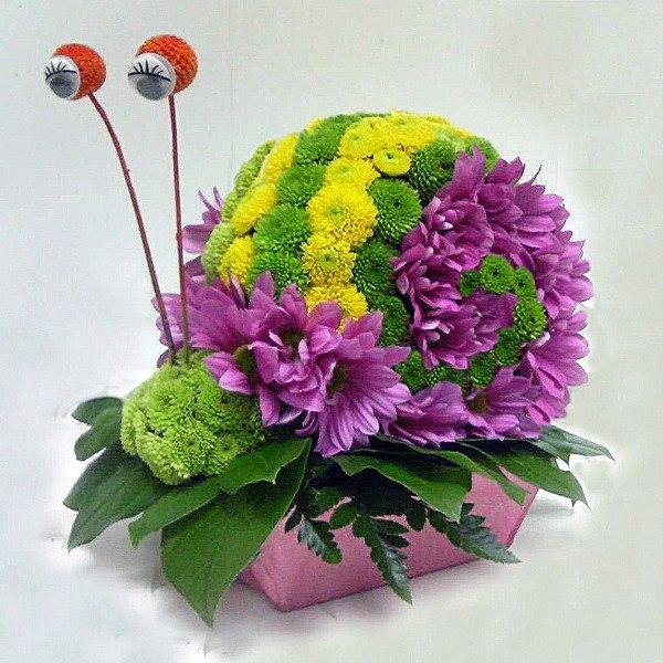 Цветы букеты композиции корзины из