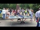 Открытый урок по настольному теннису