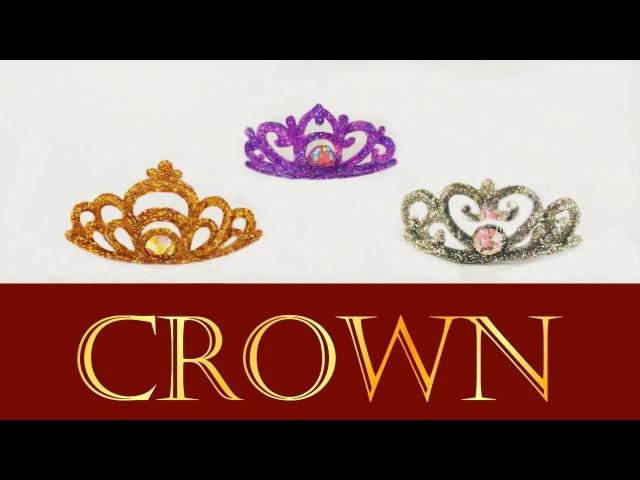 Miniature Princess Crown / Tiara / Coroa de princesa p/ Barbie / Doll Tutorial