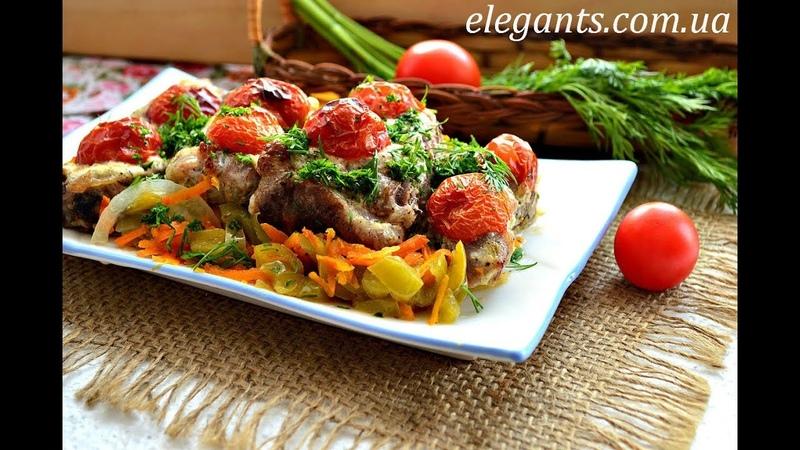 «Мясо в шубе» - мясо с тушенными овощами, на elegants.com.ua супермаркета «Elegant» Sumy (Ukraine)