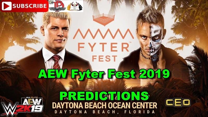 AEW Fyter Fest 2019 Cody Rhodes vs Darby Allin Predictions WWE 2K19