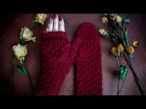 Вяжем варежки - трансформеры ♥ Часть 2 ♥ Вяжем крючком ♥ Wild Rose ♥