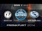 Invictus Gaming vs. Evil Geniuses - Grand Final Map 2 - ESL One Frankfurt 2014 - Dota 2