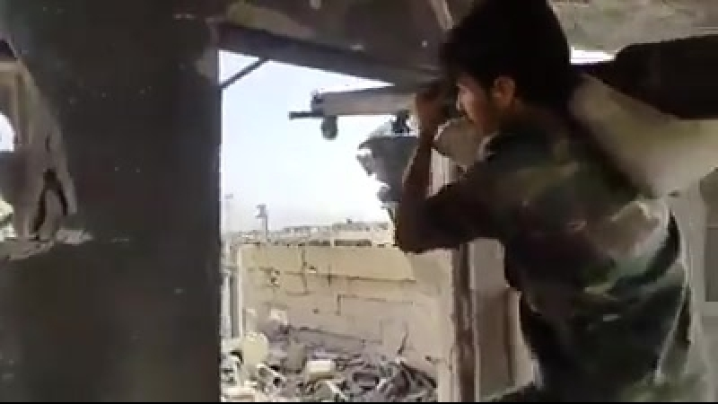 Лива аль Кудс (Иерусалимская бригада) во время боёв на юге Дамаска