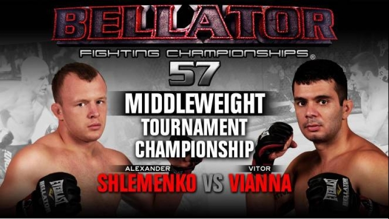 Александр Шлеменко против Витора Вианна Alexander Shlemenko vs. Vitor Vianna Bellator 57 (12.11.2011)