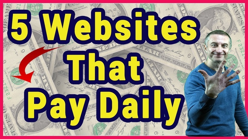 5 Websites That Will Pay You Daily In 2019 Easy Home Based Jobs