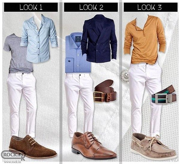 Белые брюки мужские с чем носить фото