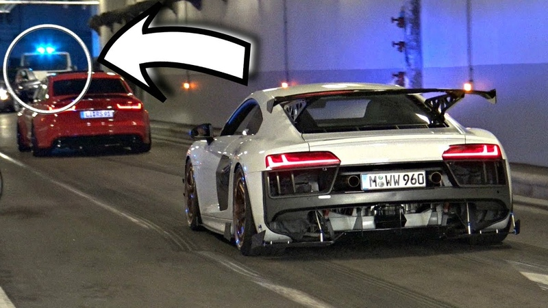 TUNED Cars Accelerating Doing Burnouts in a Tunnel! - COPS Show Up! (Hilarious Reactions)