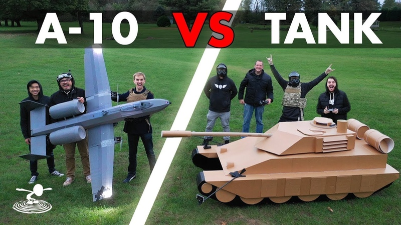 A 10 Warthog VS Tank Epic Airsoft Battle