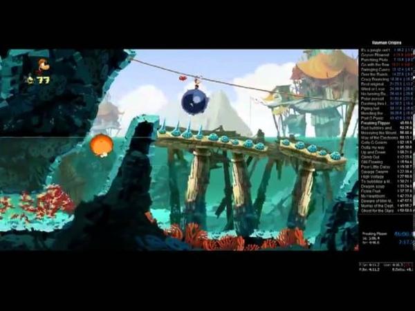 Rayman Origins Speed run [130electoons] - 1:58:29
