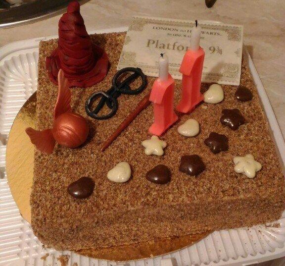 Мама сделала торт на ДР! Спасибо, мамочка! Поттерманы навсегда!