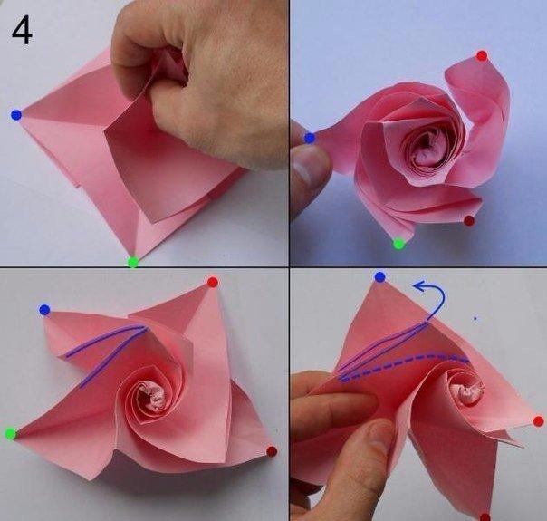 Как сделать розочку и бумаги