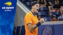Juan Martin del Potro Prevails in 2nd Night Match in Louis Armstrong Stadium at the US Open