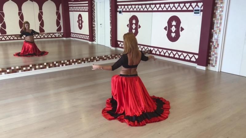 Связка 6 от Елены Амани ( учим танец живота самостоятельно)