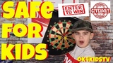 Magnetic DartBoard - Safe for kids ok4kidstv video 248