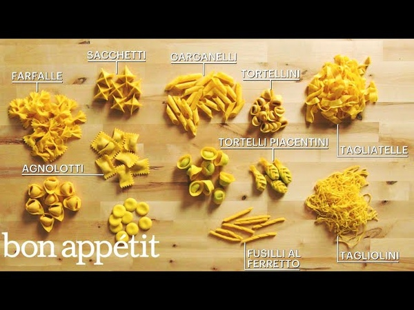 How to Make 29 Handmade Pasta Shapes With 4 Types of Dough Handcrafted Bon Appétit
