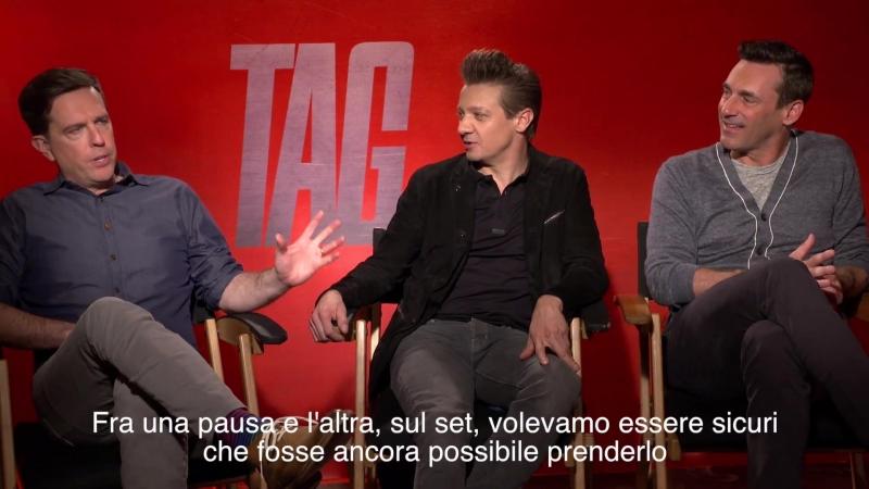 Jeremy Renner, Jon Hamm e Isla Fisher, le star di Tag-Prendimi