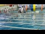100 метрів брас дівчата Національний Кубок України з плавання 2013/11/1—4