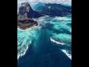 Подводный водопад на острове Маврикий 💦
